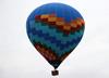 Balão fiesta sobrevoando Rio Claro (SP). (25/07/2014)