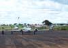 Aeronaves estacionadas no pátio do aeroporto de Batatais.