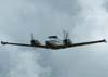 Piper PA-30 Twin Comanche, PT-CVP, realizando uma passagem rasante.