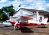 Aero Boero 115, PP-GQM, do Aeroclube de Batatais, sendo empurrado de volta ao hangar da instituição.