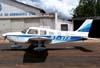 Piper/Neiva EMB-712 Tupi, PT-VFH, do Aeroclube de Batatais, estacionado no pátio.