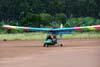 Flyer GT, PU-RFS, logo após o pouso.