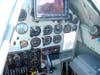 Cabine do North American T-6D, PT-KRC, aeronave número 1 da Esquadrilha OI. O Carlos Edo, piloto desse avião, modernizou a aeronave com um belo GPS. (26/04/2008) Foto: João Thiago Domingues