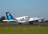Piper/Embraer EMB-810C Seneca II, PT-RDL, da EJ Escola de Aviação Civil, ex-Mariano Escola de Aviação, durante o taxiamento. (26/04/2008) Foto: João Thiago Domingues