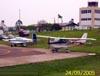 Mooney M20C (esquerda), PT-LXZ, e Cessna 172D Skyhawk, PT-BVO. (24/09/2005)
