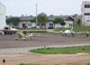 Em primeiro plano, P56 Paulistinha, e logo atrás o EMB-810C Seneca.