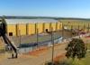 Construção do novo hangar.
