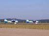 Ultraleves Rans S-10 do Hangar Del Cielo, da Argentina, pilotados por Cesar Falistocco e Gustavo Passano, correndo para decolar.