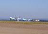 Ultraleves Rans S-10 do Hangar Del Cielo, da Argentina, pilotados por Cesar Falistocco e Gustavo Passano, pousando após a apresentação.