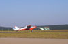 Aero Boero 115, PP-GLA, do Aero-clube de Bragança Paulista, correndo para decolar.