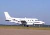 EMB-110 Bandeirante, PT-EDO, da Extreme Táxi Aéreo, pilotado por Carlos Edo, correndo para decolar.