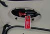 Detalhe da alavanca do pára-quedas balístico no teto da cabine de passageiros do Cirrus SR-22 G2, PR-MNG.