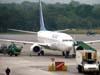 Boeing 737-8EH, PR-VBK, da Varig, recebido diretamente do fabricante pela GOL no dia 30 de novembro de 2007 com a matrícula PT-GTX. Foi recebido pela Varig em 2 de janeiro de 2008. (06/07/2008)