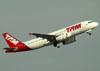 Airbus A320-232, PT-MZT, da TAM. (22/03/2012)