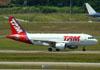 Airbus A319-112, PR-MYM, da TAM. (22/03/2012)