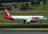 Airbus A320-232, PT-MZZ, da TAM. (22/03/2012)