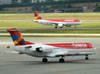 Fokker 100 (F28MK0100), PR-OAJ, da Avianca Brasil. (22/03/2012)