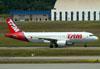 Airbus A320-214, PR-MHX, da TAM. (22/03/2012)
