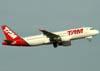 Airbus A320-214, PR-MYD, da TAM. (23/06/2009)