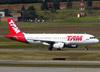 Airbus A320-232, PR-MAZ, da TAM. (26/07/2012)