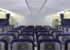 Classe econômica do Boeing 747-830 Intercontinental, D-ABYD, da Lufthansa. (31/03/2014)