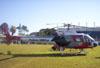 Helibrás/Eurocopter AS-350BA Esquilo, Águia 6, PP-EOJ, da Polícia Militar de São Paulo, pousado no Estádio Rui Barbosa, em São Carlos. (29/06/2006)