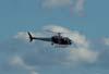 Eurocopter AS-350BA, Águia 1 da Polícia Militar do Estado de São Paulo, PP-EID, sobrevoando a cidade de São Carlos. (20/03/2007)