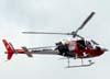 Eurocopter AS-350 BA, PP-EOI, Águia 5 da Polícia Militar, sobrevoando São Carlos. (09/01/2008) Foto: Rodrigo Zanette