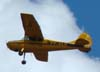 Cessna 170A, PT-ALD, da Gaia Publicidade, sobrevoando São Carlos. (15/12/2007)