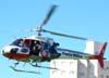 Eurocopter AS-350 BA, PP-EOI, Águia 5 da Polícia Militar, decolando do Estádio Rui Barbosa, em São Carlos. (21/12/2007)