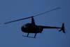 Robinson R-44, PT-YZI, da ABC Helicópteros, sobrevoando a cidade de São Carlos durante um vôo panorâmico, operado para o Big Feirão de Automóveis de São Carlos. Cada uma das pessoas que comprou um carro no evento, ganhou um vôo de 3 minutos. (24/03/2007)