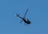 Robinson R-44, PT-YZI, da ABC Helicópteros, sobrevoando a cidade de São Carlos durante um vôo panorâmico, operado para o Big Feirão de Automóveis de São Carlos. Cada uma das pessoas que comprou um carro no evento, ganhou um vôo de 3 minutos. (25/03/2007)