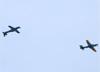 Dois Embraer EMB-314 Super Tucano (A-29A), da Esquadrilha da Fumaça (EDA - Esquadrão de Demonstração Aérea) da FAB (Força Aérea Brasileira), sobrevoando São Carlos (SP). (21/03/2018)
