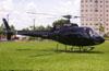 Esquilo HB-350B (PT-HLT) da Power Helicópteros de Ribeirão Preto pousado no estádio Rui Barbosa, em São Carlos (25/01/2006).