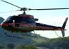 Eurocopter/Helibras AS-350B3, PR-HDP, da Dimep Sistemas, decolando da Helibras, em Itajubá (MG). (19/03/2010)