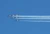 Tucanos do EDA fazendo o teste de fumaça logo após a decolagem.