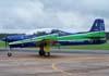 Embraer T-27 Tucano, FAB 1360, da Esquadrilha da Fumaça, taxiando no pátio depois de sobrevoar a AFA antes da apresentação do EDA.