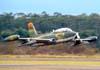 Decolagem do Aermacchi/Embraer EMB-326GB Xavante, designado AT-26 pela Força Aérea Brasileira, prefixo FAB 4509.