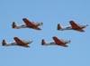 Esquadrilha formada por quatro Neiva T-25 Universal da AFA (Academia da Força Aérea).