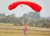 Paraquedista do Circo Aéreo.