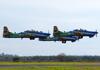 Três Embraer EMB-314 Super Tucano (A-29B) da Esquadrilha da Fumaça. (11/08/2013)
