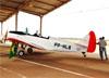Fairchild/Fábrica do Galeão 3FG (PT-19A Cornell), PP-HLB, do Aeroclube de Pirassununga. (17/08/2014) Foto: Anderson Kindermann.