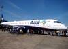 """Embraer 195AR, PR-AYG (Chamado """"Tudo novo, tudo azul""""), da Azul. (19/06/2010) Foto: Ricardo Frutuoso."""