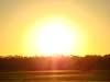 Pôr-do-sol na AFA.