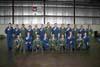 Oficiais do EDA, com o macacão verde, ao lado dos oficiais dos Thunderbirds, Esquadrão de Demonstração Aérea da USAF, Força Aérea Norte-americana, em Dayton, Ohio, Estados Unidos. (24/07/2007) Foto: Suboficial Waldemar Prieto Júnior, fotógrafo do Esquadrão de Demonstração Aérea.