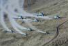 Tucanos da Esquadrilha da Fumaça sobrevoando a Cordilheira dos Andes. (08/08/2007) Foto: Suboficial Waldemar Prieto Júnior, fotógrafo do Esquadrão de Demonstração Aérea.