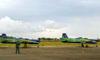 Os Embraer EMB-312 (T-27 Tucano) da Esquadrilha da Fumaça taxiando após a apresentação. (07/06/2012) Foto: Sérgio Cardoso.