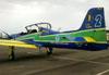 Embraer EMB-312 (T-27 Tucano), FAB 1434, da Esquadrilha da Fumaça. (07/06/2012) Foto: Sérgio Cardoso.