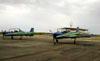 Dois Embraer EMB-312 (T-27 Tucano) da Esquadrilha da Fumaça. (07/06/2012) Foto: Sérgio Cardoso.