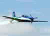 Tenente Coronel Aviador Alberto das Neves Neto durante o vôo de despedida do EDA.